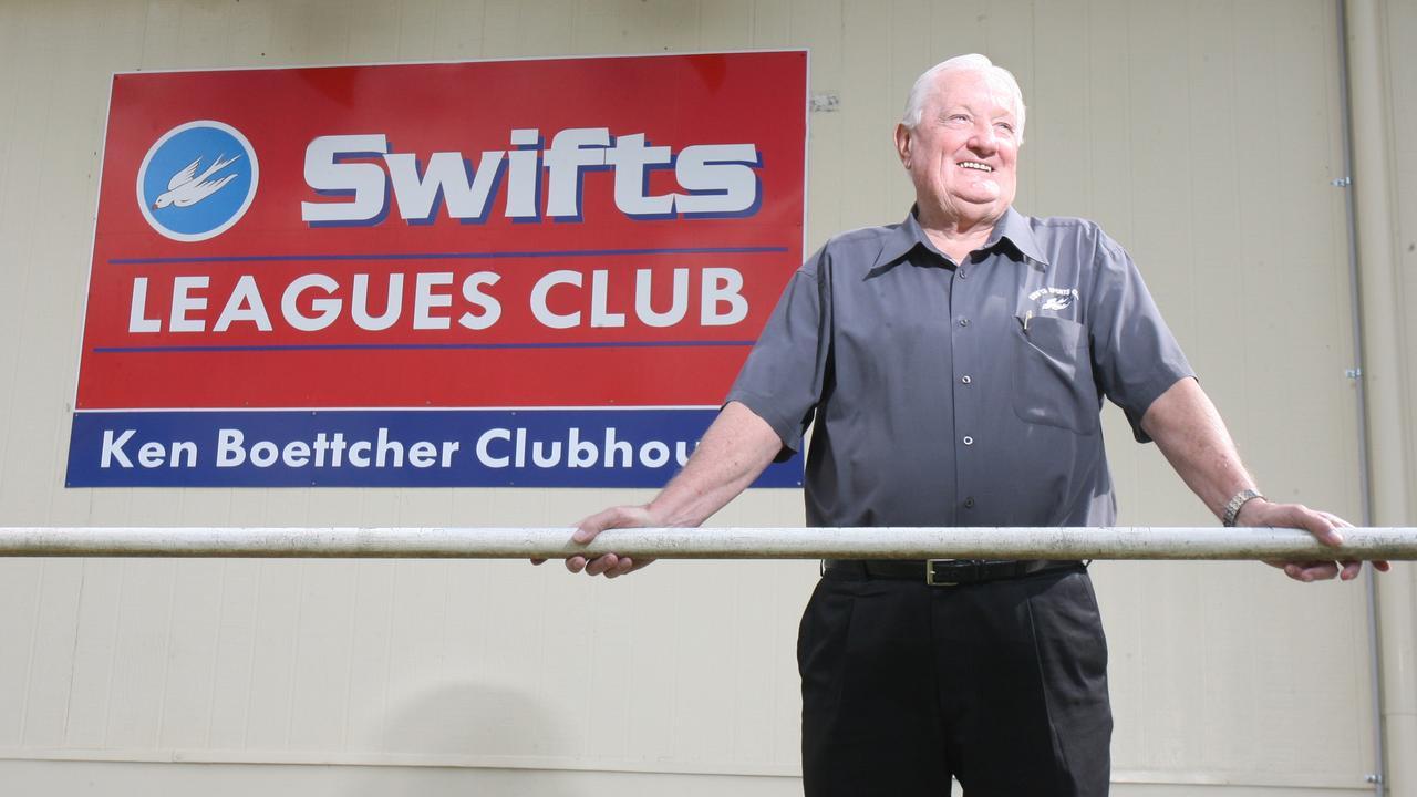 Ken Boettcher was instrumental in the development of Swifts League Club. Picture: Rob Williams