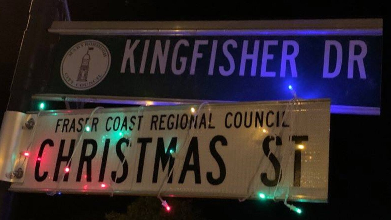 CHRISTMAS STREET: Kingfisher Drive, Oakhurst which was named Christmas Street by Fraser Coast Regional Council. Photo: Stuart Fast