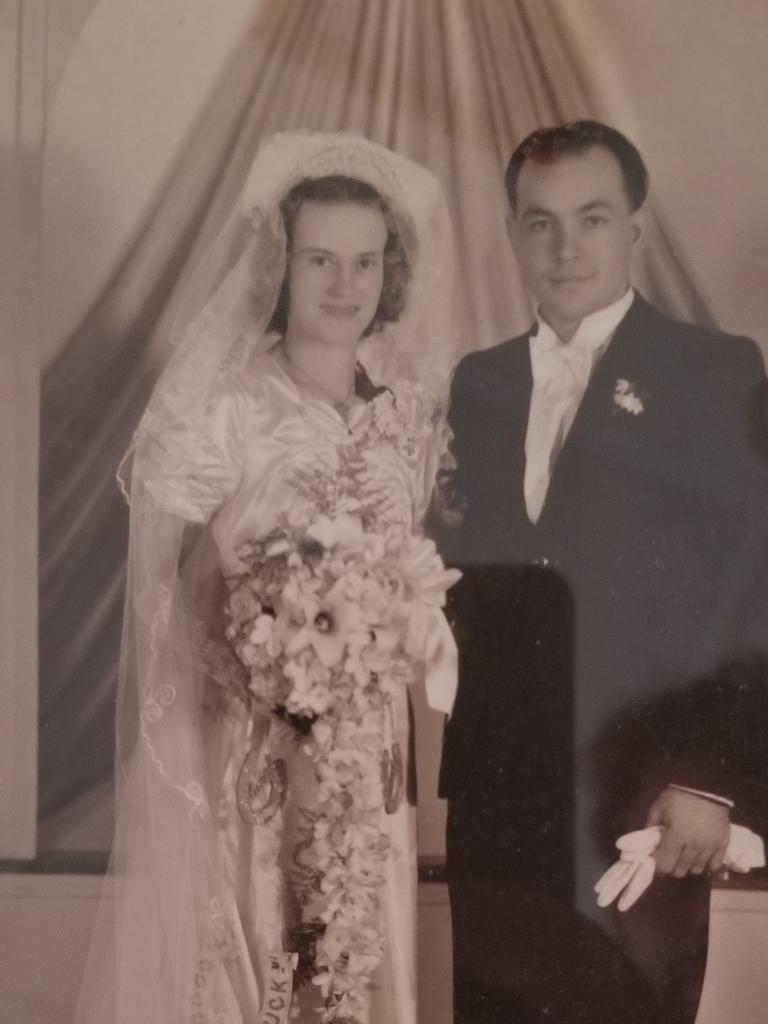 Maisie and Ron Hammond on their wedding day.