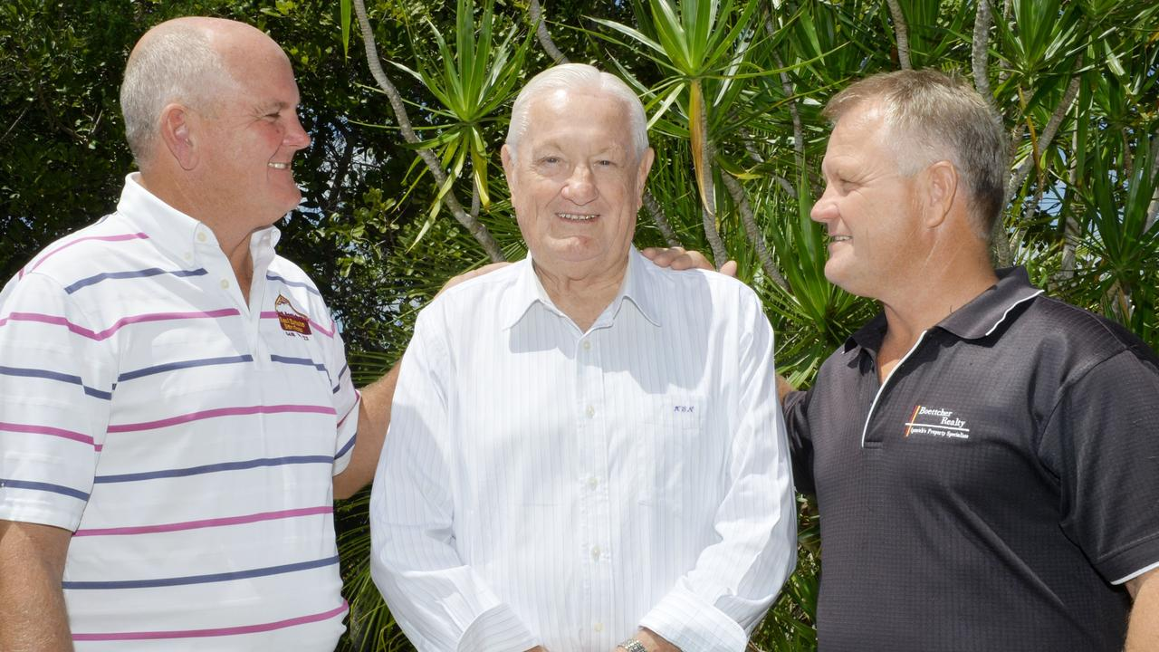 The late Ken Boettcher pictured with his sons Mark (left) and Darren. Picture: Inga Williams