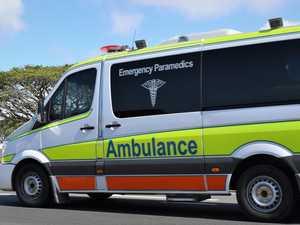 Significant leg injury after motorbike crash at Ball Bay