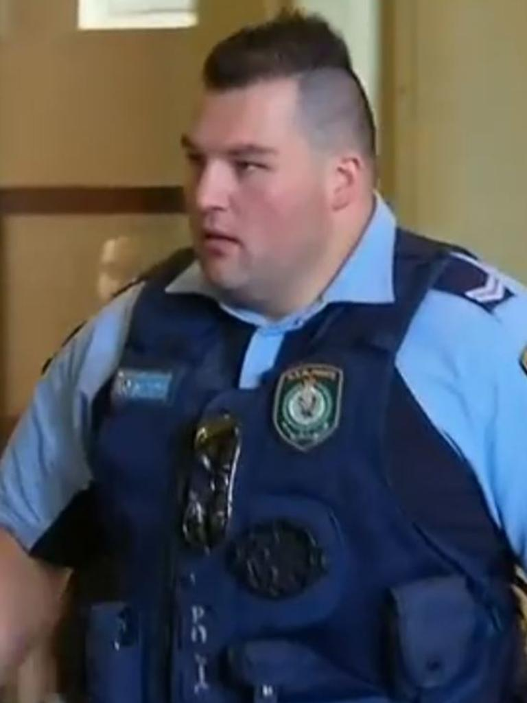 Constable Ben Vizzone was sacked. Picture: Nine News