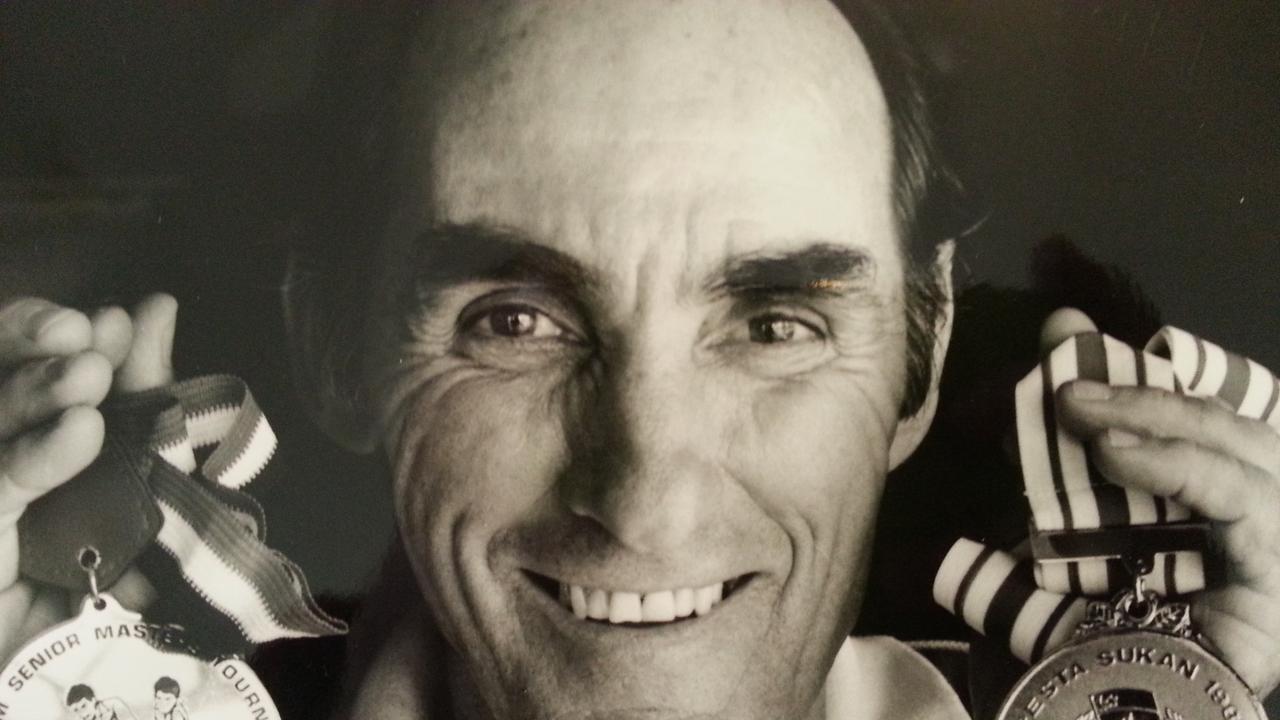 Former masters hockey medal winner George Sawyers