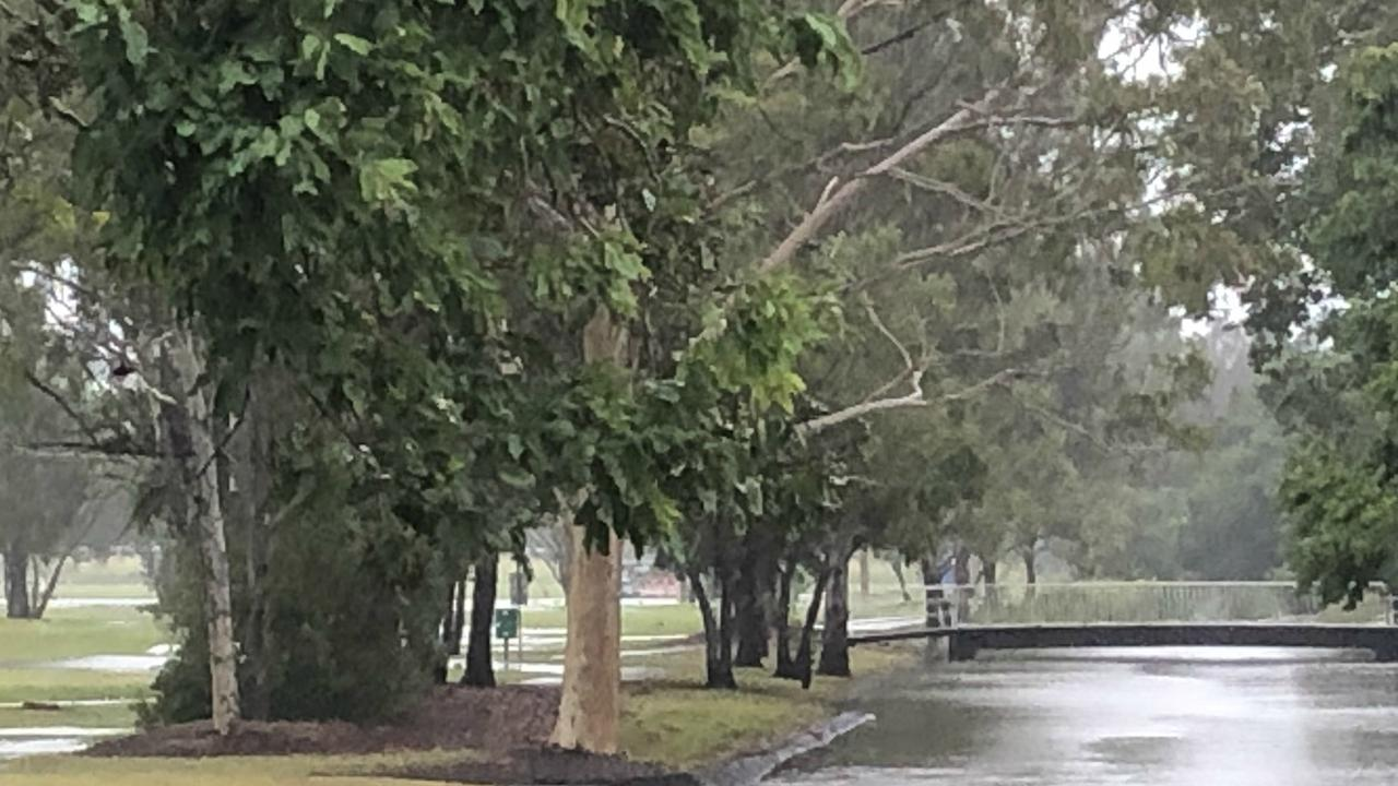STORMY WEATHER: As rain continues to hammer the Northern Rivers, canals in Lismore are reaching peak capacity. Photo: Alison Paterson