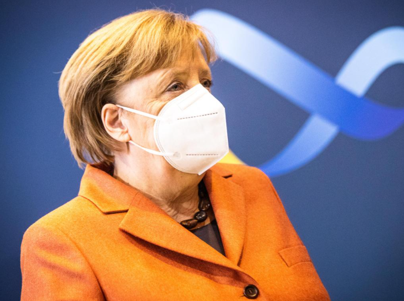 Angela Merkel has announced new stricter lockdown measures after Germany saw record numbers of daily new infections and deaths in recent days. Picture: Getty Images
