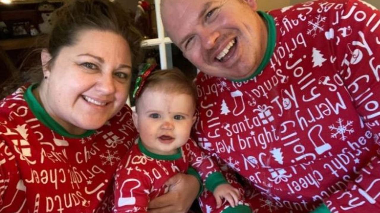 Jeffrey, pictured wit his wife Nicole and daughter, Adalyn, died from coronavirus. Picture: GoFundMe