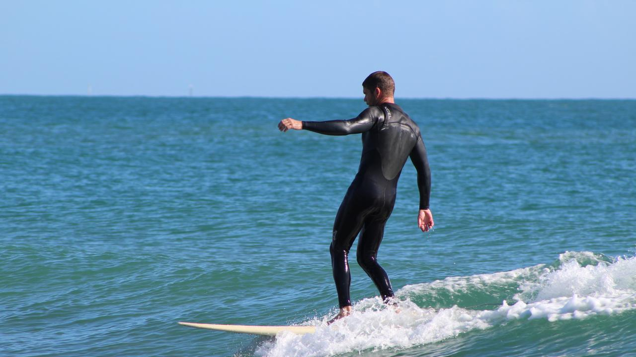 Ashley Ramage surfing at Mon Repos, just around the corner from Archies beach at Bargara.