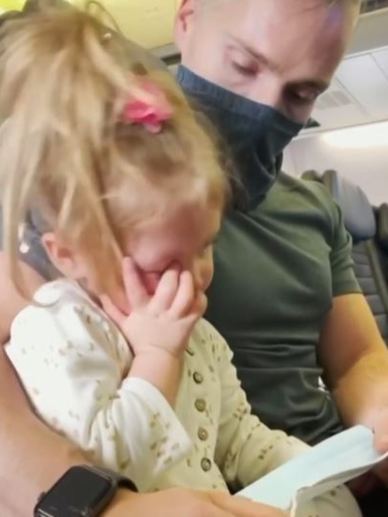 Edeline, 2, refused to put a mask on, resulting in the family being escorted off the plane.