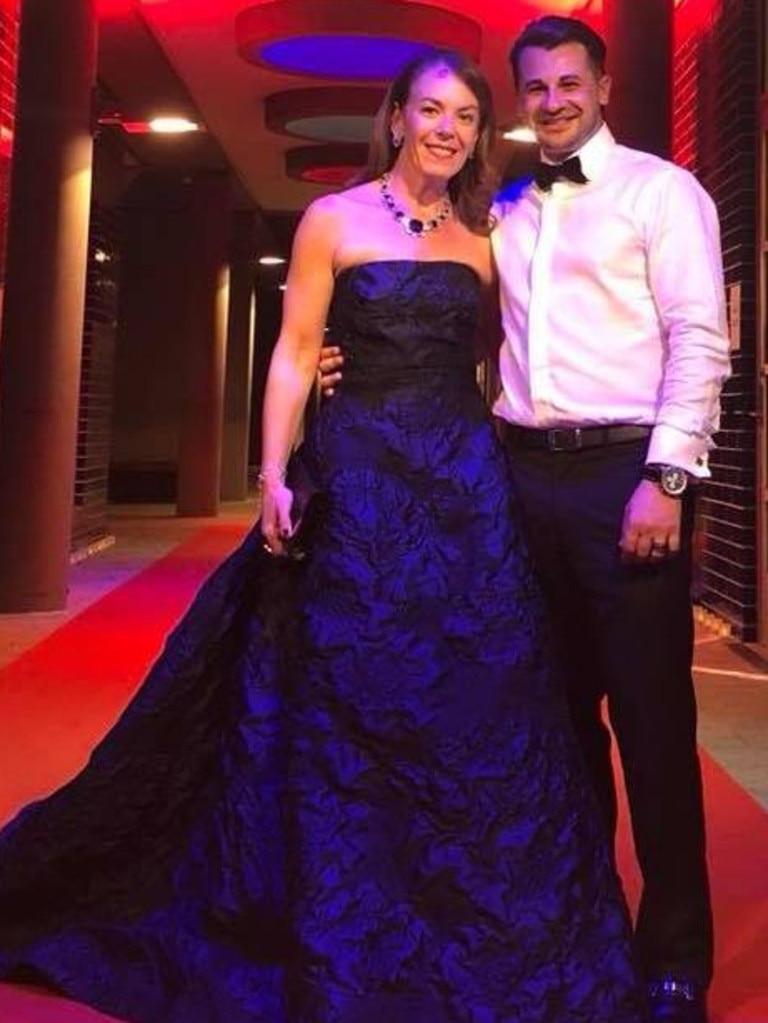 Missing Sydney woman Melissa Caddick with her husband Anthony Koletti.