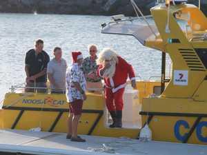 Coast Guard takes Santa to children's Christmas party