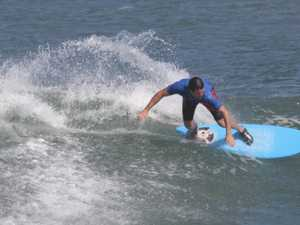 FACING FEAR: Back in surf after narrow escape at Archies