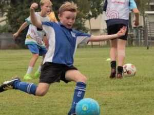 Incredible way vision impaired boy plays competitive soccer