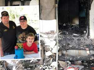 7yo saves parents from blaze that destroyed family home