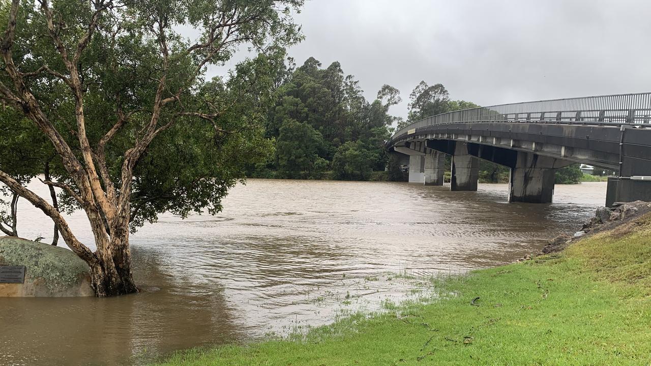 Flooding in Tumbulgum, December 2020. Picture: Liana Boss