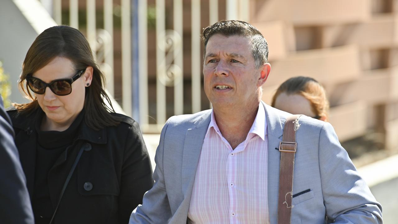 Former mayor Andrew Antoniolli leaving Ipswich Court in 2019.