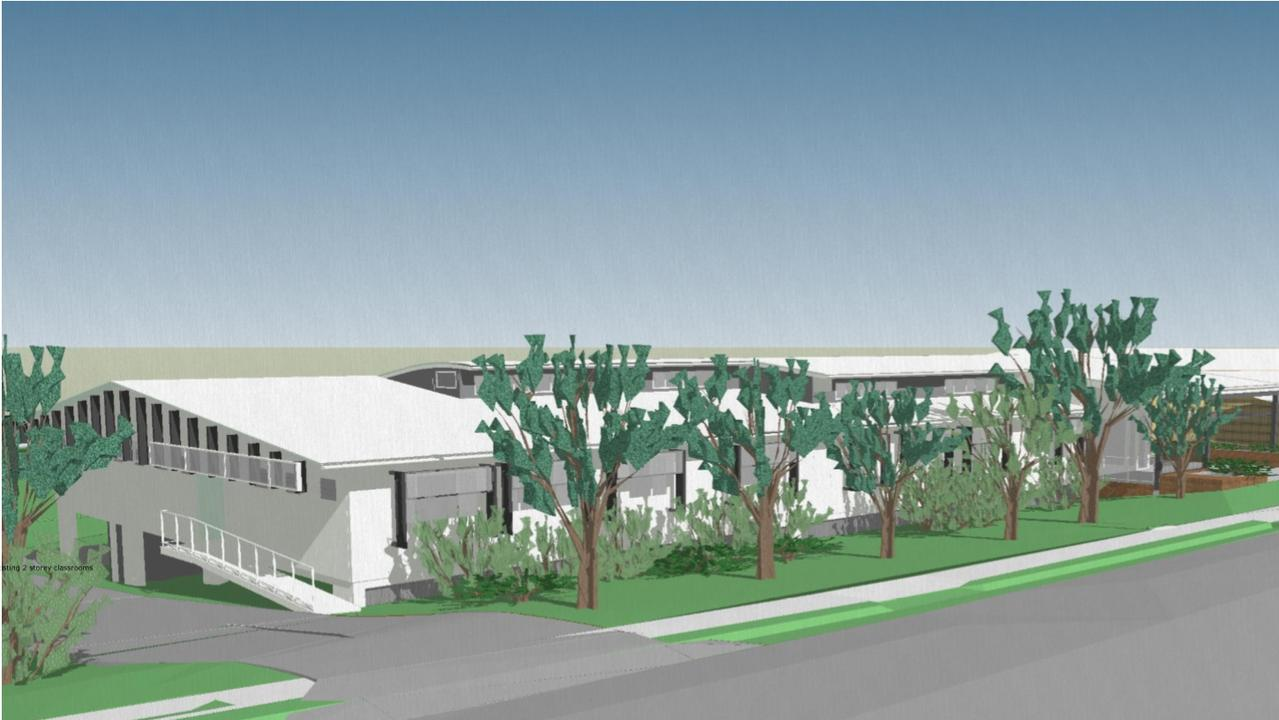The proposed new St Patrick's College administration building.
