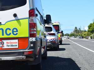 Emergency crews rush to free person trapped after car crash