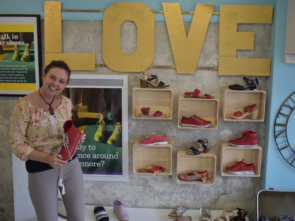 Shoes on Magellan owner Melinda Turner has begun enacting her flood plan for this year.