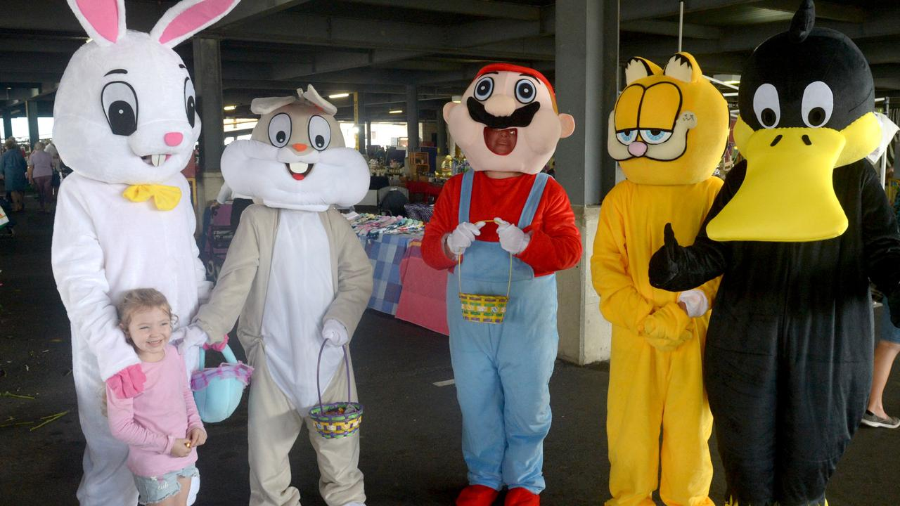 Phelicia Pickett, 4 with Easter friends at the Kern Arcade markets