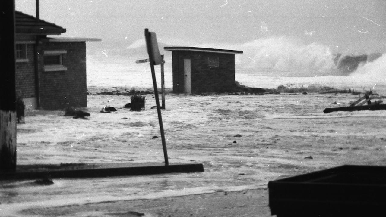 BYRON WILL RECOVER: Kirra Pendergast, a fourth-generation Byron local, said she can remember her dad Max talking about the damage to Main Beach in 1973, pictured here. Photo: Max Pendergast
