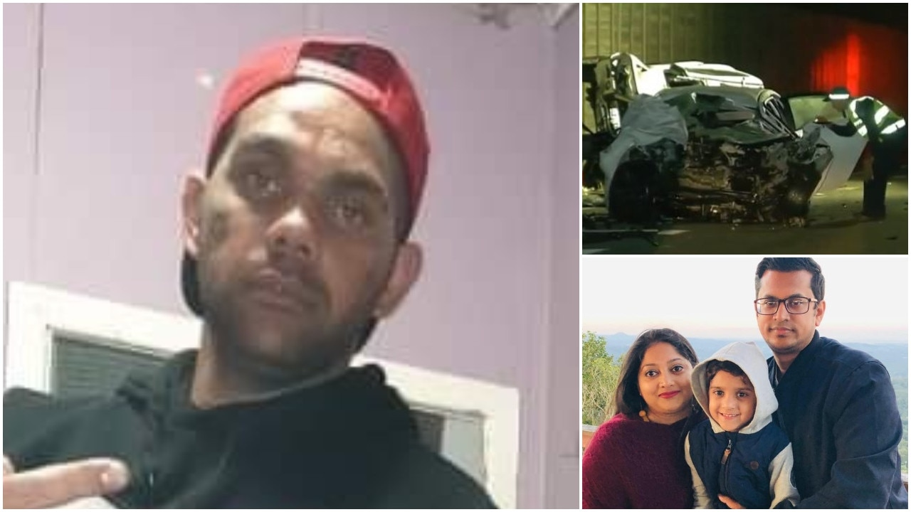 The driver who killed two men stood on the body of his own dead passenger before spitting blood on police and threatening to rape their families.