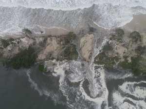 Next high tide will decide Coast beach's fate