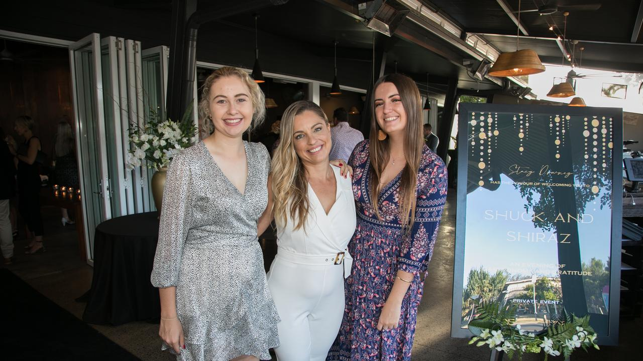 Haile Delaforce, Anna Gilbert and Phoebe Broad joined a room of who's who from around Mooloolaba, Minyama and Kawana at a VIP canapés event for Stacy Downey from Amber Werchon Property at Fish on Parkyn on December 10.The event included a sommelier pairing, a feature dish of Fraser Isle Spanner Crab prepared by celebrity, two-hatted Chef Damien Styles and a silent auction to raise funds f