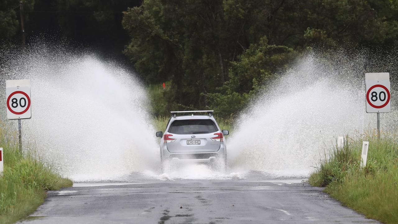 Extreme weather lashes the North Coast of NSW. Picture: Jason O'Brien