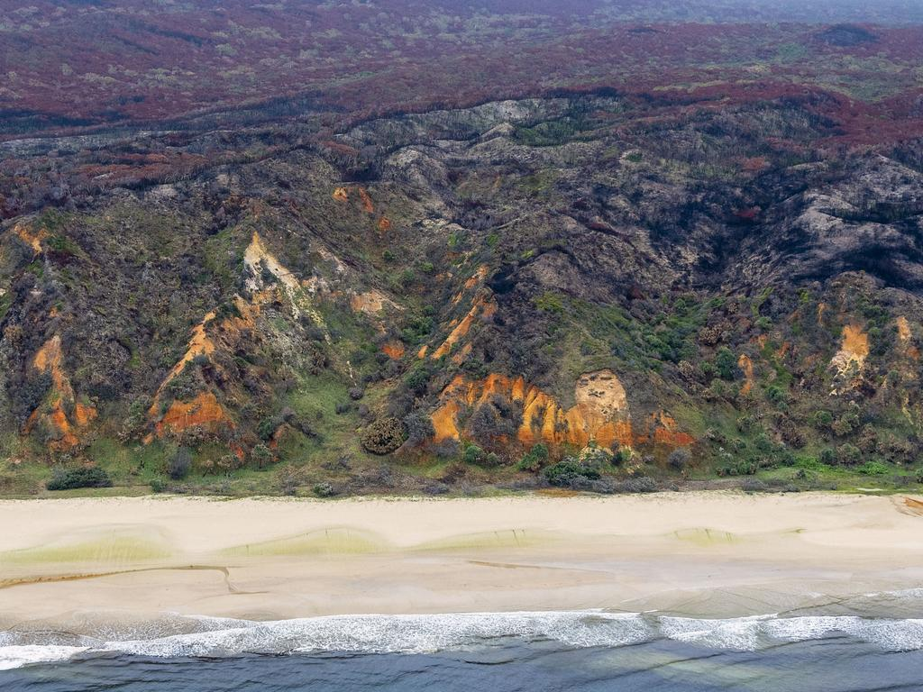 A large proportion of the island has been scorched by recent bushfires. Picture: John Wilson/NCA NewsWire