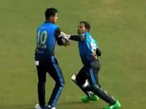 Ugly scenes as cricket teammates clash