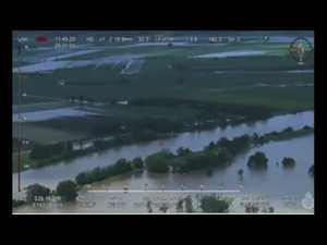 AERIAL VISION OF FLOODED AREAS
