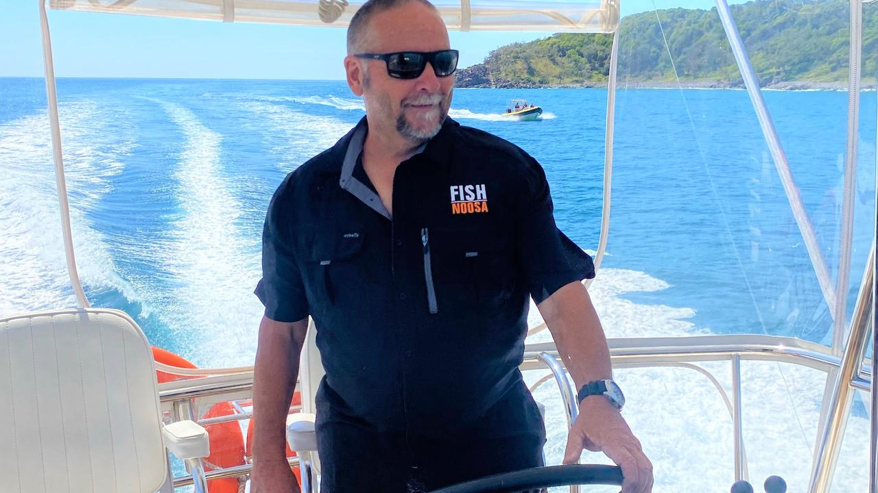 Wally Boor on the flybridge of the new