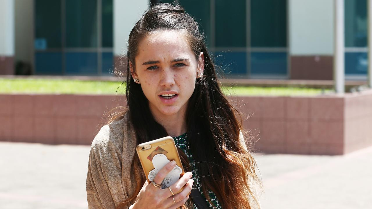 Lina Daley leaves the Cairns Magistrates Court after appearing on drugs charges. PICTURE: BRENDAN RADKE