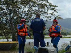 SES volunteers help paramedics to reach patient