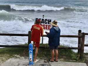 Byron Bay has fun, even in the middle of a weather event