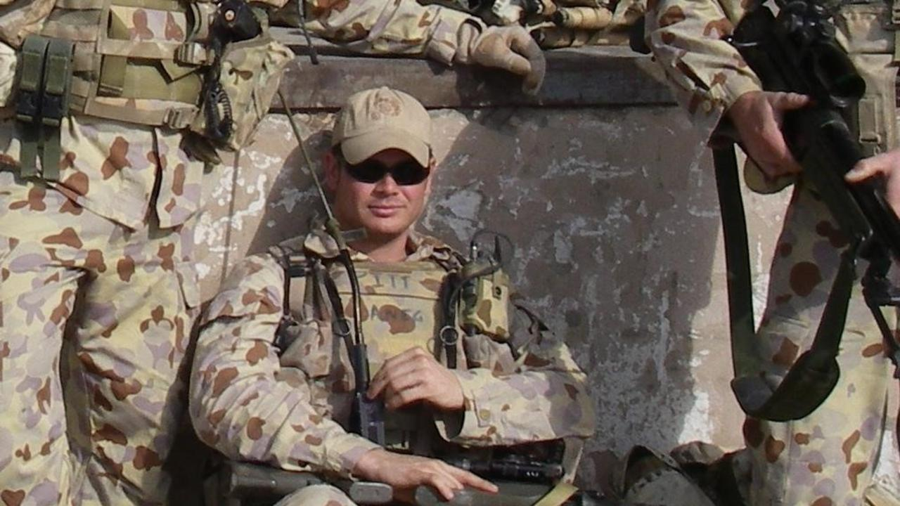 Matt Pitt on tour in Iraq in the early 2000s.