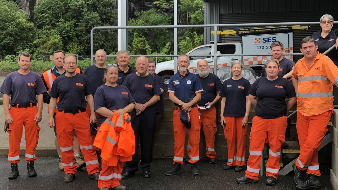 READY TO HELP: Some of the members of the SES Lismore City Unit assembled at their HQ on Tuesday December 15 ahead of being assigned to tasks including flood rescue and sandbagging duties. Photo: Alison Paterson