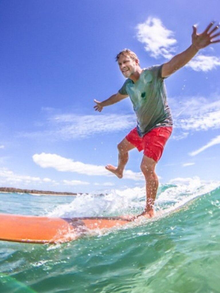 Keen surfer and Noosa Councillor Tom Wegener.