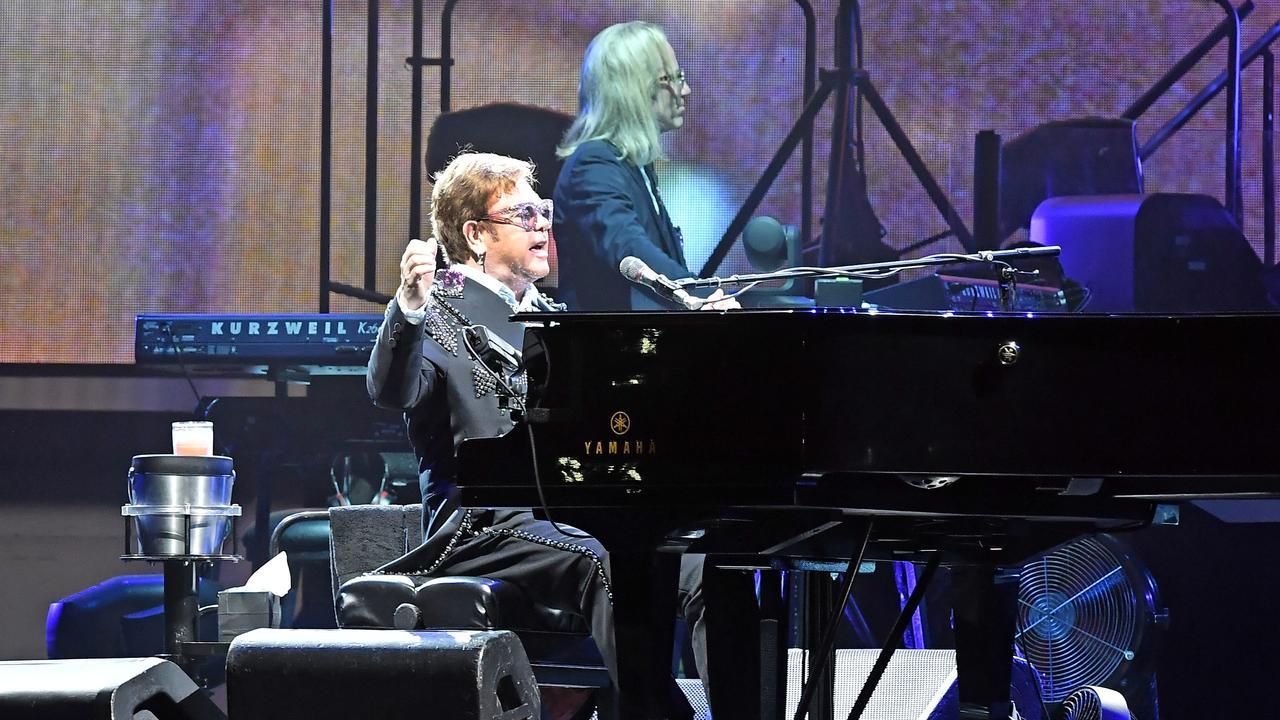 Elton John on the Farewell Yellow Brick Road Australian Tour at Sunshine Coast Stadium. Picture: Patrick Woods