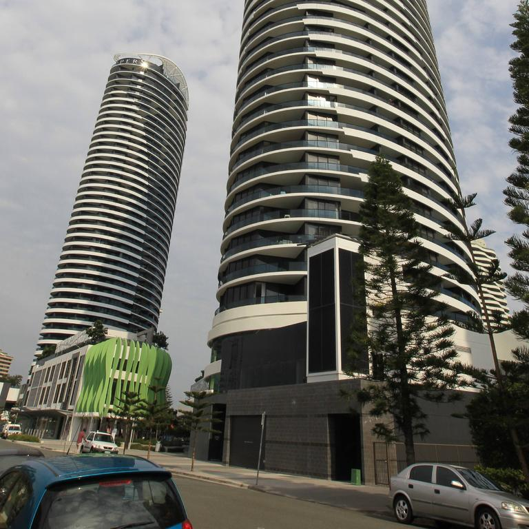 The Oracle towers at Broadbeach. Picture: Mike Batterham