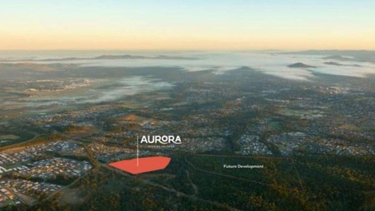 Just three blocks of land remain for sale at the new $105 million development. Photo: Aurora Deebing Heights