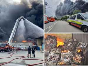 'Significant roof collapse' as huge fire continues to burn