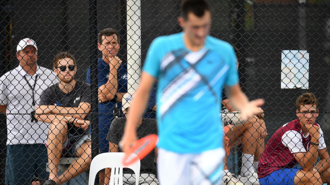 Now ranked 226 in the world, Bernard Tomic is being pushed to the limit on a domestic tennis circuit.