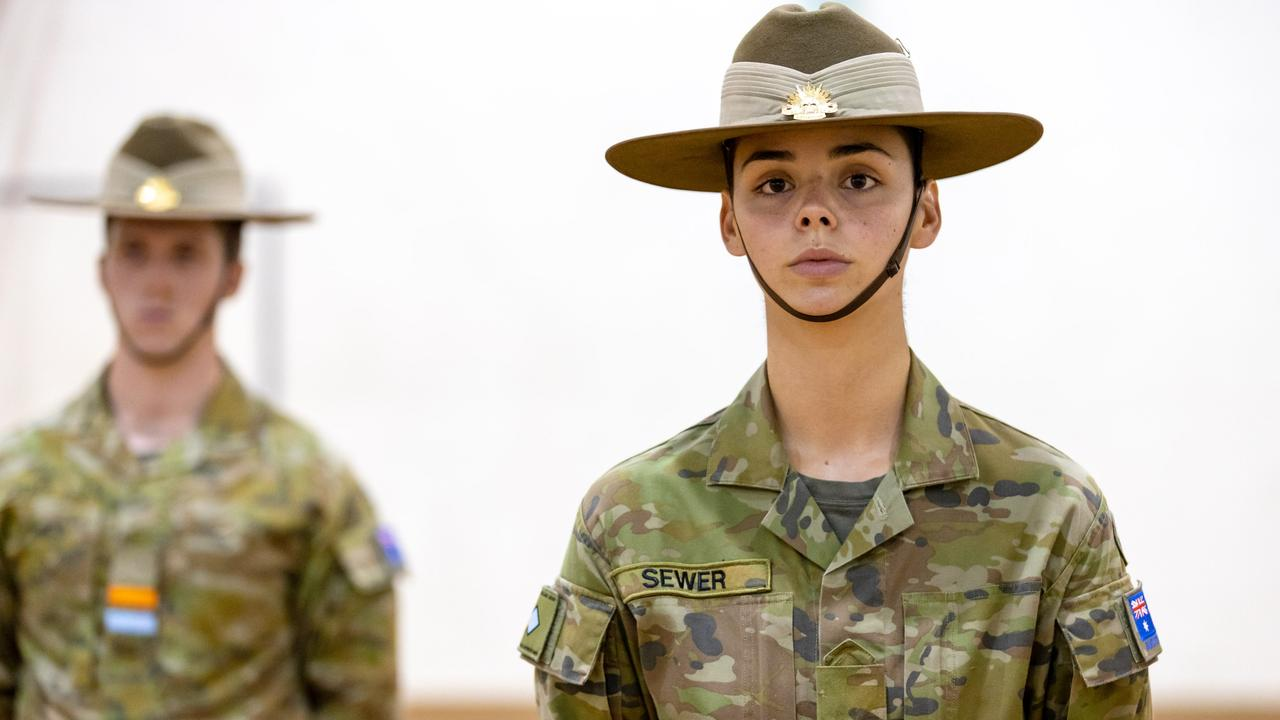 Australian Army Recruit Amy Sewer is part of the Army's Indigenous Development Program. Picture: Defence.