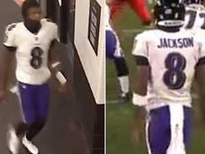 Football star denies pooping mid-game