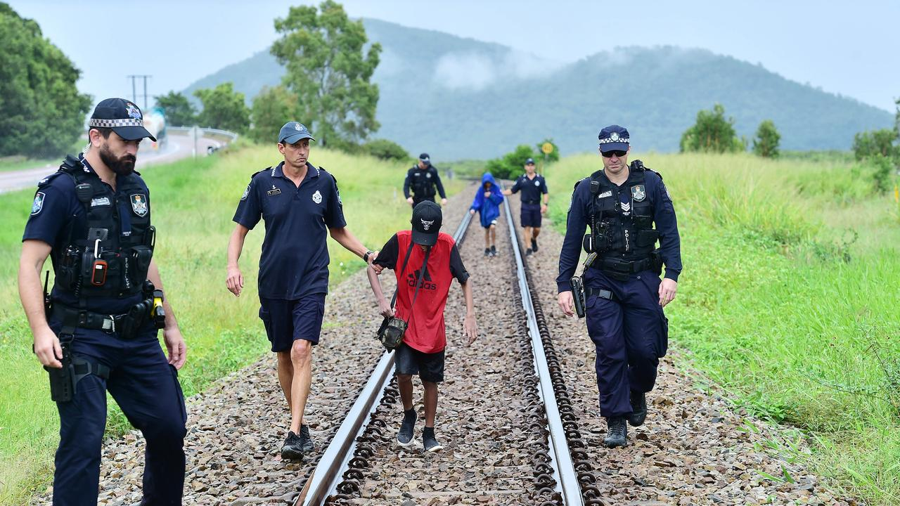 Youth crime has become a key issue for many residents who feel the region repeat youth offenders hold the region to ransom. Police find and arrest two alleged juvenile offenders hiding in bushland south of Townsville near Cape Cleveland. Picture: Shae Beplate.