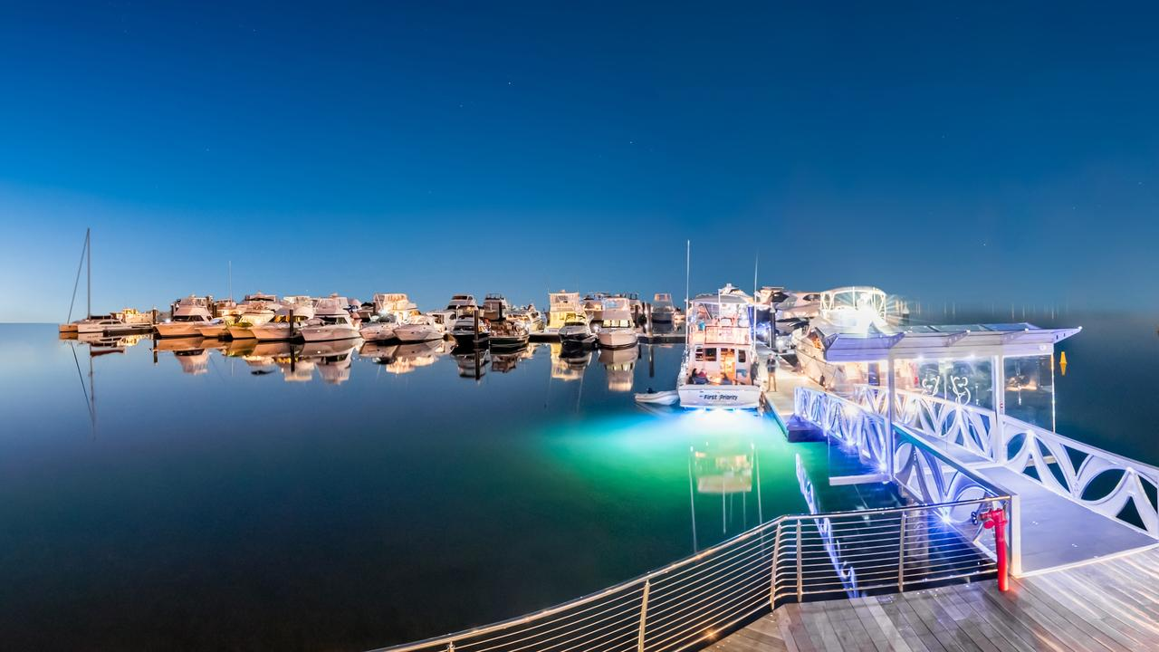 What the marina at the Pelican Waters marine village will look like once completed.