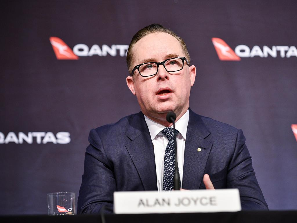 Qantas chief executive Alan Joyce has already declared international passengers will require the vaccine to travel. Picture: NCA NewsWire/Flavio Brancaleone