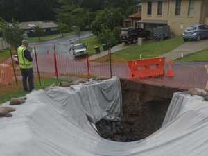 Intense rain creates huge sinkhole in Coffs Harbour street