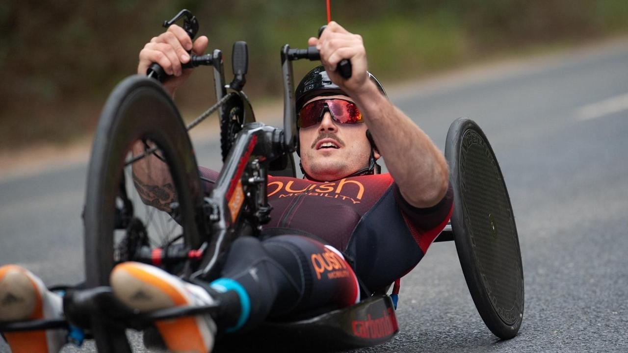 Maroochydore local Alex Welsh will on Friday attempt to break the handcycling distance record. Picture: Supplied
